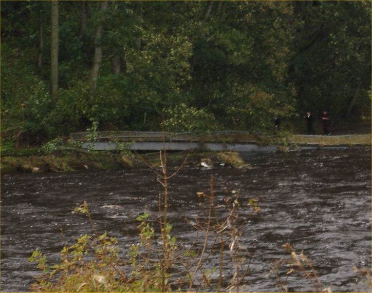 Photo: Thurso Cemetery Bridge Washed Away And Dumped Here