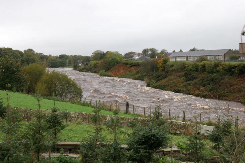 Photo: Thurso River In Spate - Below Halkirk Primary School