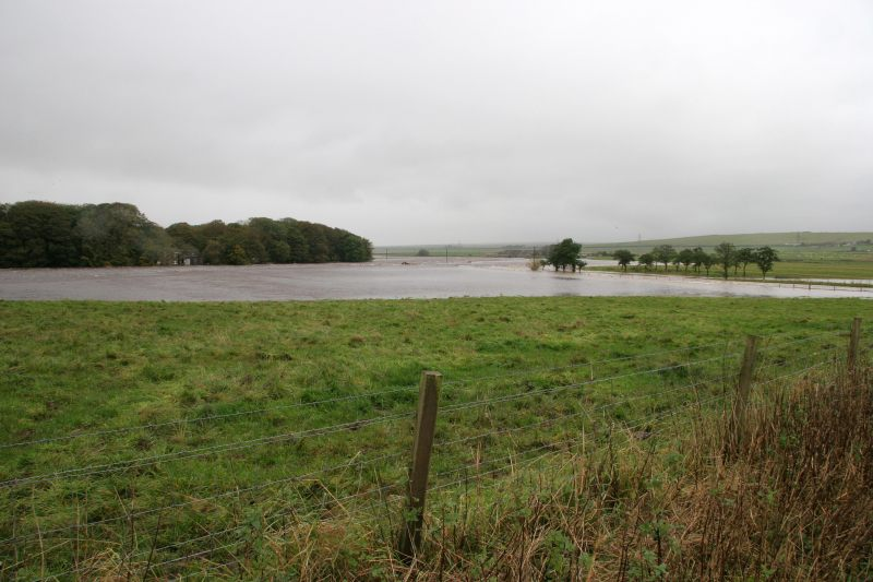 Photo: Thurso River In Spate - Beyond Braal Castle