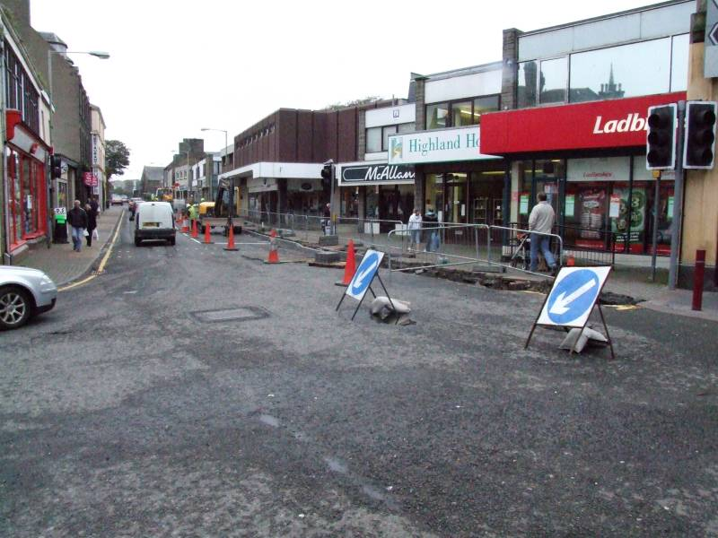 Photo: Road Works In High Street, Wick To Last A Month