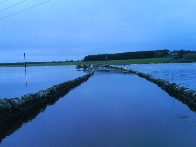 Photo: Wick River In Spate At Bilbster