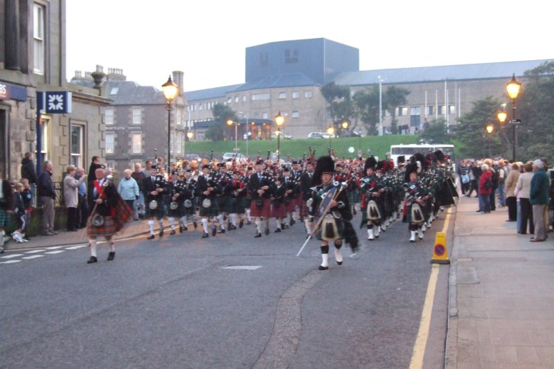 Photo: Massed Pipe Bands At Wick - 16 September 2006