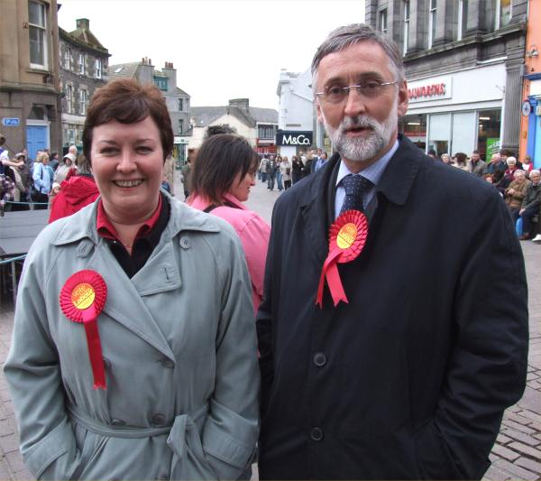 Photo: Labour Candidates Rhoda Grant and Peter Peacock