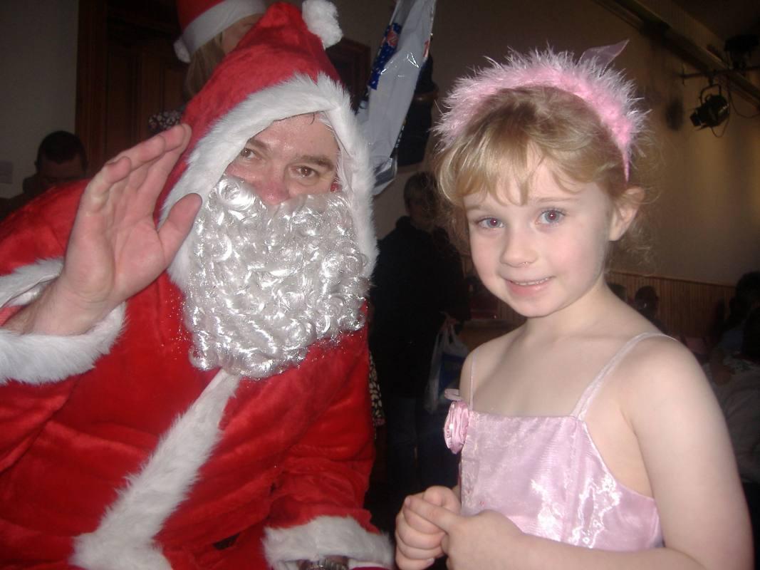 Photo: UKAEA Christmas Party At Halkirk - Viki Dunnet With Santa
