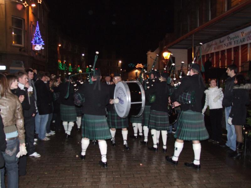 Photo: Hogmanay At Market Square, Wick