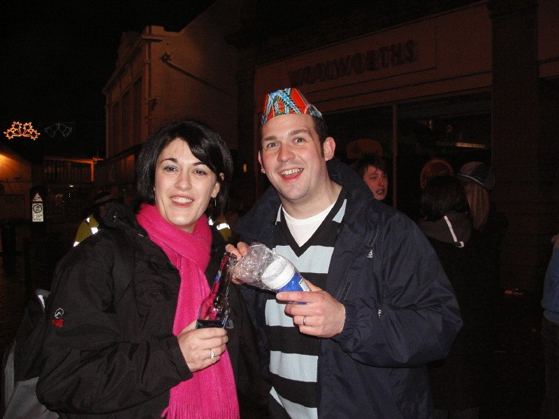 Photo: Hogmanay At Market Square, Wick