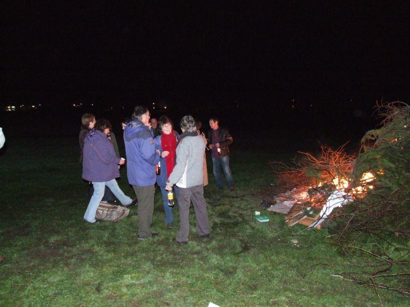 Photo: Hogmanay Bonfire At Bignold Park, Wick