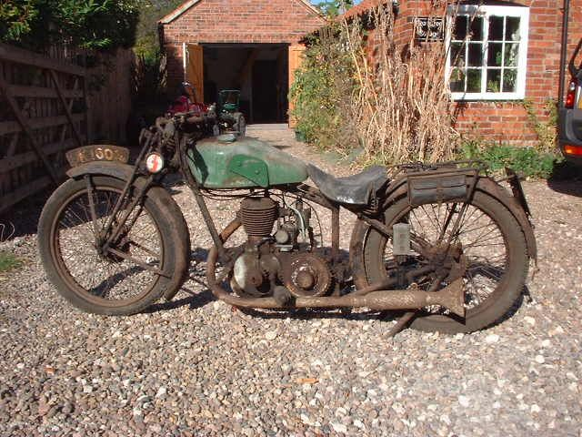 Photo: Old Caithness Registered Motorcycle Restored SK1606 New Imperial