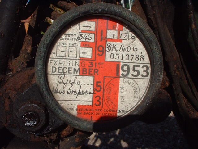 Photo: Old Caithness Registered Motorcycle Tax Disc