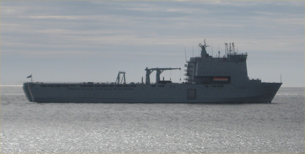 Photo: RFA Mounts Bay At Papigoe, Caithness