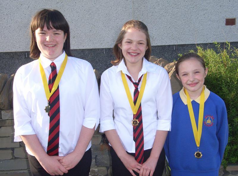 Photo: Winning Sisters - Lynsey, Joanna & Eilidh Harper - All Three Won Their Vocal Solo Classes