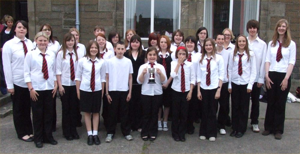 Photo: Thurso High Choir Won The Wick Junior Choir Cup