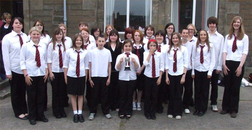 Photo: Thurso High Choir Won The Wick Junior Choir Cup