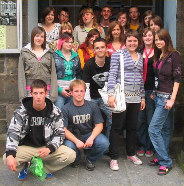 Photo: Students From Krakow With Wick High Students At Wick Town Hall
