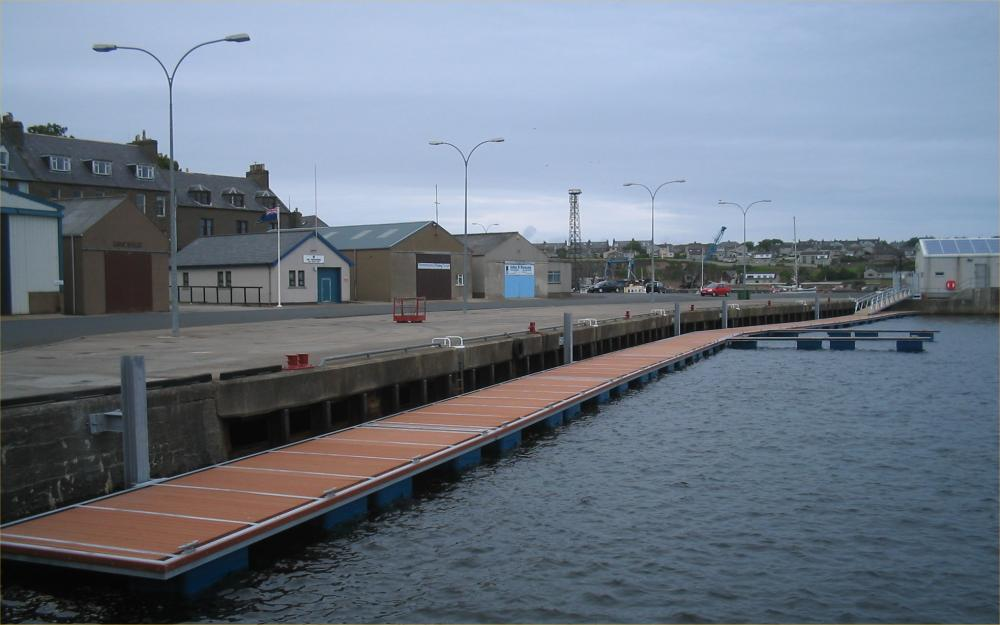Photo: Pontoons Ready At Wick Harbour