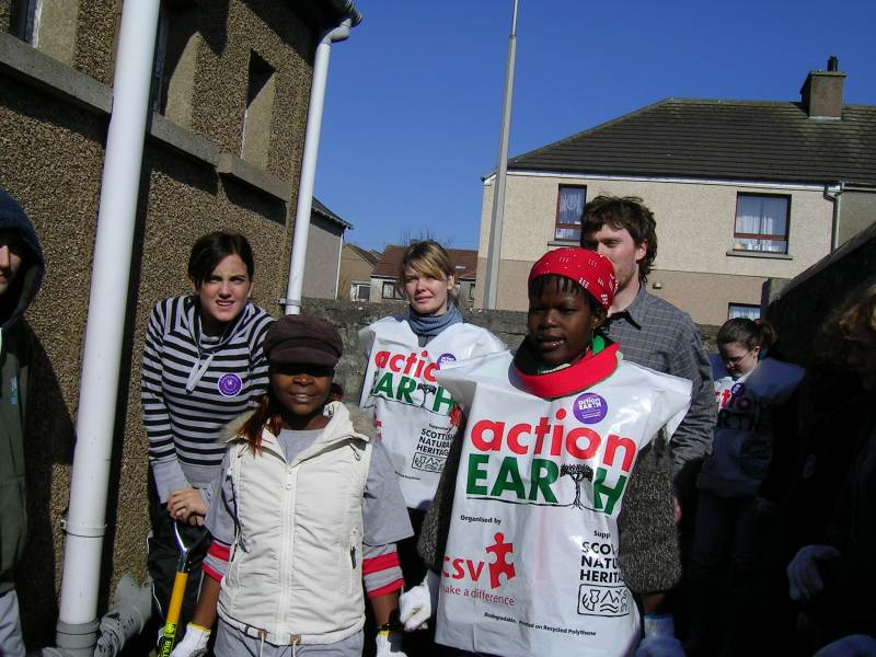 Photo: Global Xchange Volunteers From Malawi and Scotland At BB Hall, Wick