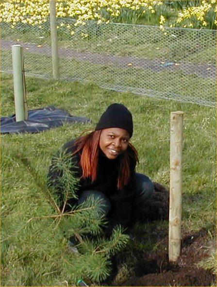 Photo: Trisha Sangaya Helping To Plant Trees At Riverside Wick