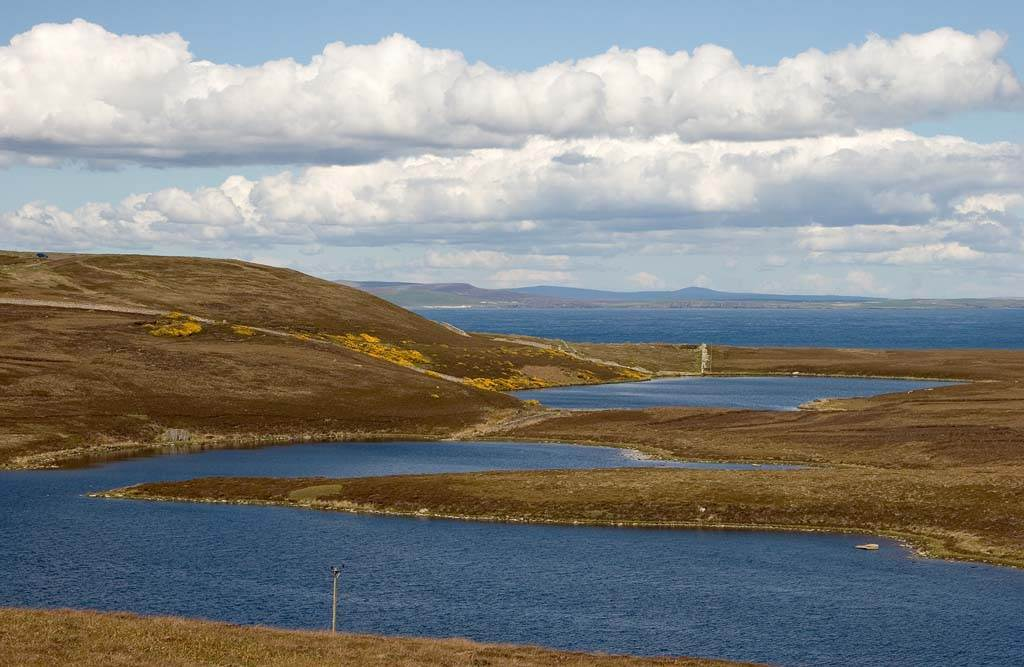 Photo: View over Long Loch to Orkney beyond