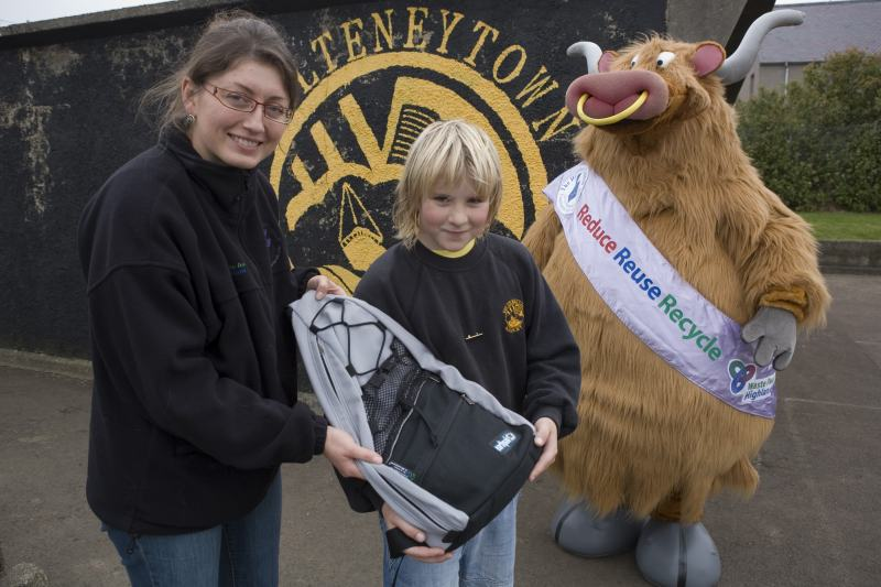 Photo: Calum Sutherland Wins Wordsearch Competition On Recycling