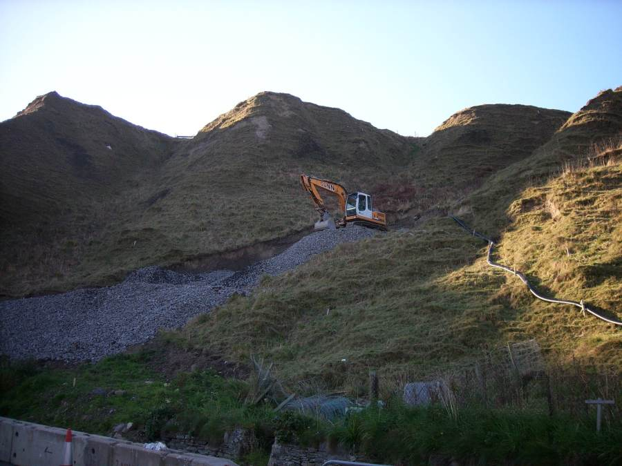 Photo: Scrabster Hill Repair Work Goes On One Year After Rainfall Collapse