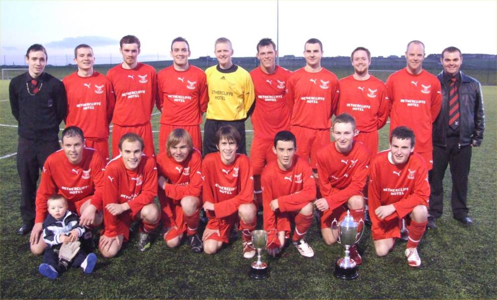 Photo: Wick Groats FC Win The League Cup And Steven Cup In 2007