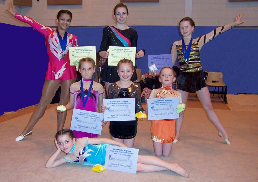 Photo: Caithness Rythmic Gymnasts Compted In Aberdeen