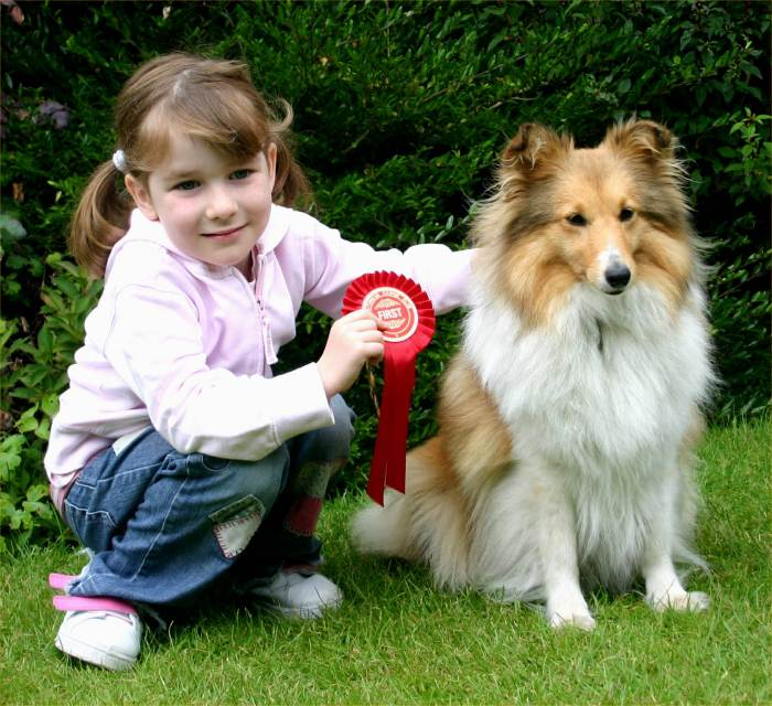 Photo: Best groomed bitch - Abbie owned by Barrie Cormack - shown by Elise Handyside