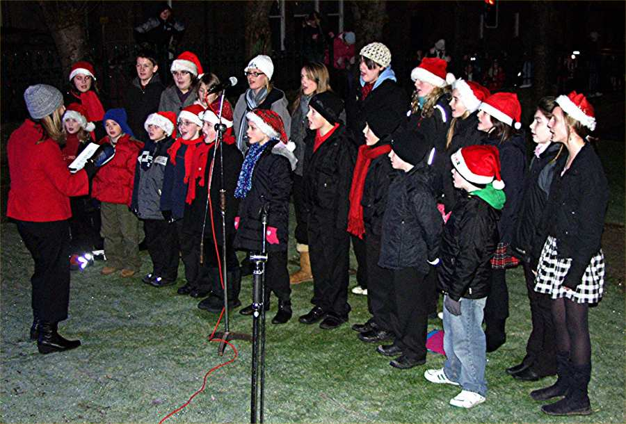 Photo: Caithness And North Sutherland Choir Singing Carols St Johns Square, Thurso