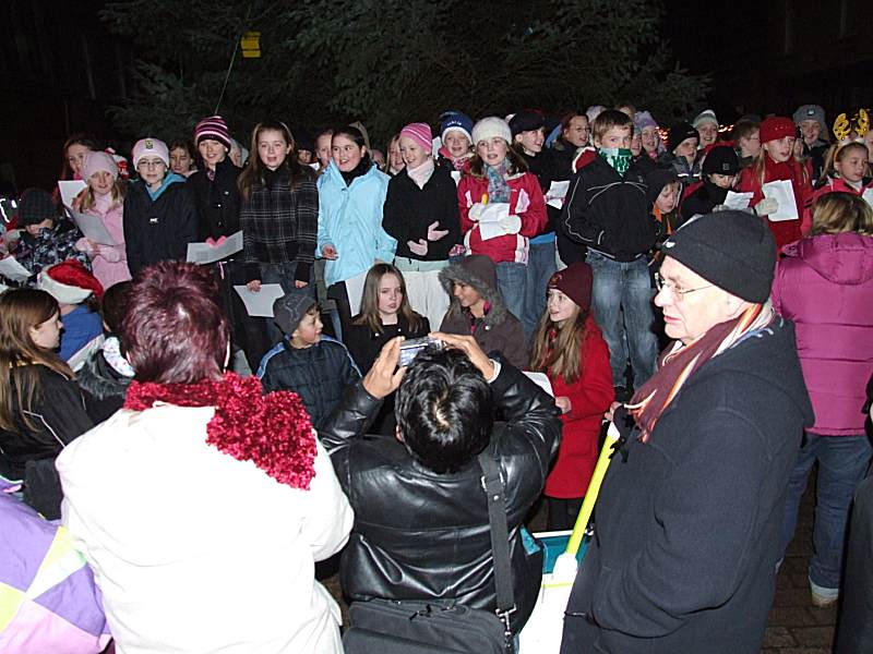 Photo: Christmas Lights Switch On At Wick