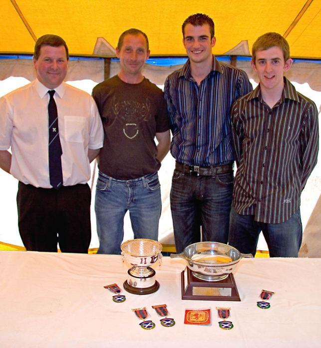 Photo: Caithness winners - Hugh Simpson, Stephen Blackwood, Gordon Buchan, Gregor Bremner