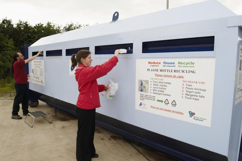 Photo: Plastic Bottle Recycling Available At Thurso And Wick