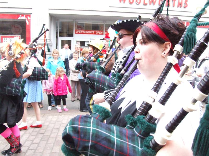 Photo: Wick Pipe Band Fancy Dress 2008