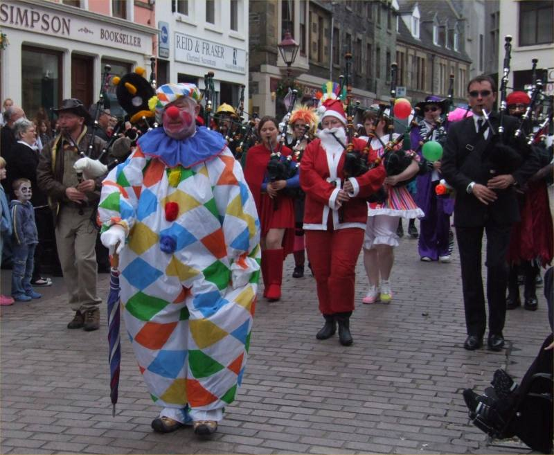 Photo: Wick Pipe Band Fancy Dress 2008