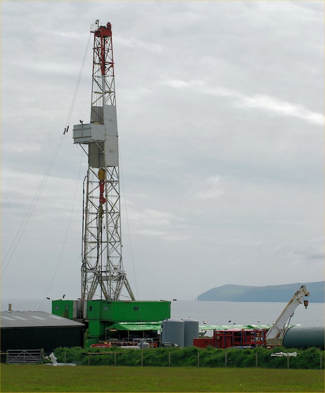 Photo: Caithness Oil Preparing To Drill At Lybster