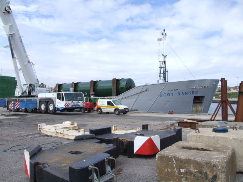 Photo: Tanks Arriving At Wick For Caithness Oil At Lybster