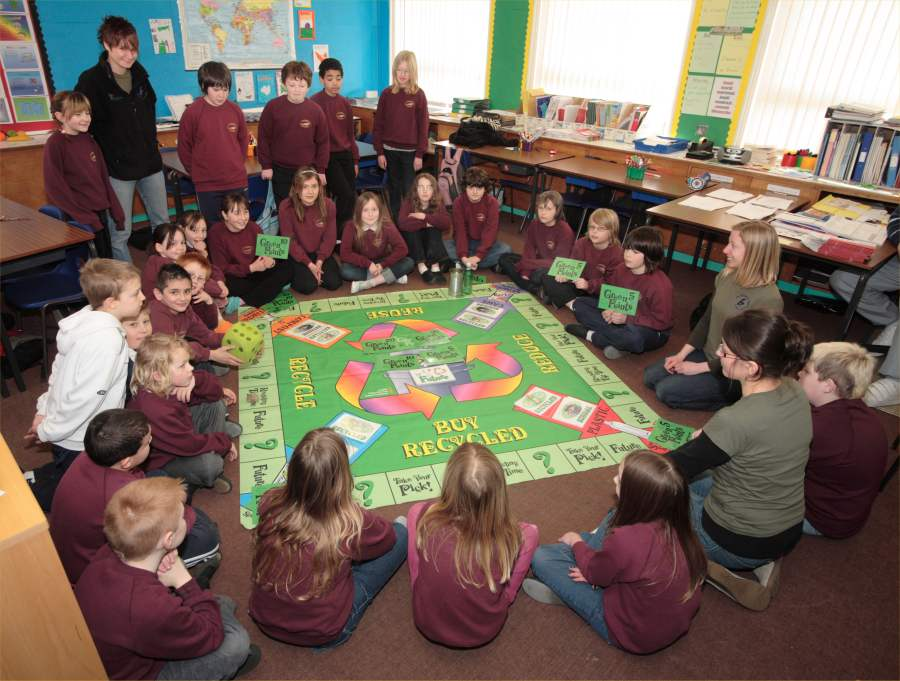 Photo: Canisbay Pupils Promote Recycling