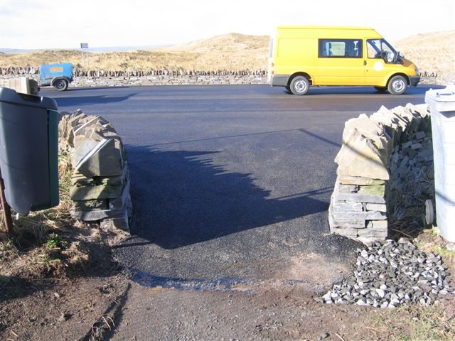 Photo: Dunnet Forest Car Park Car Park Resurfacing Completed