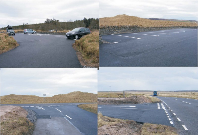 Photo: Dunnet Forest Car Park Car Park - White Lining Completed