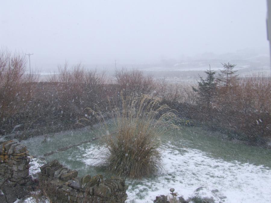 Photo: Snow Scene In Wick Easter Monday - 12.30pm