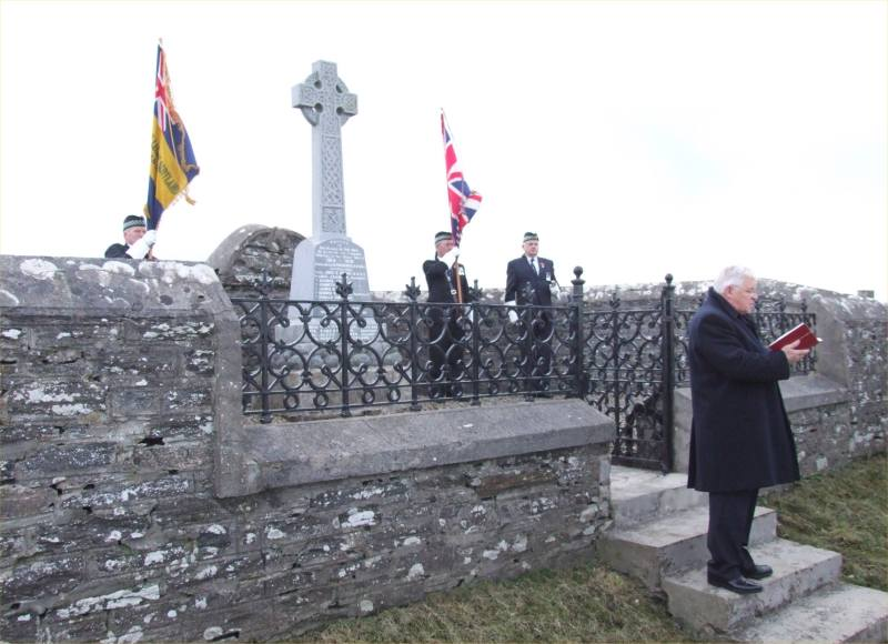 Photo: Remembrance Ceremony At Bilbster And Stirkoke Memorial