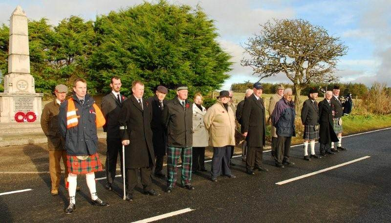 Photo: Remembrance At Lybster