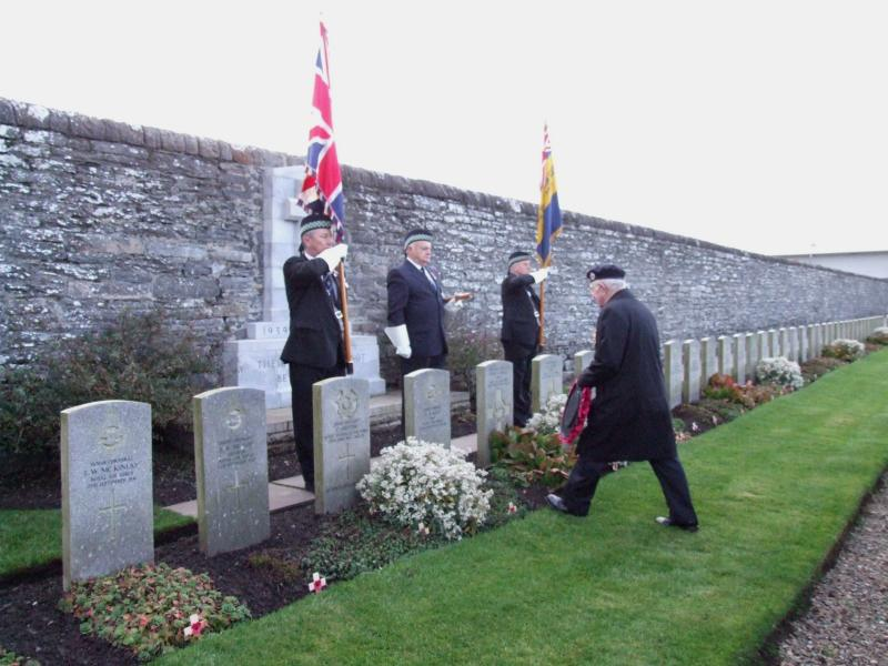 Photo: Remembrance Ceremony At Wick Cemetery