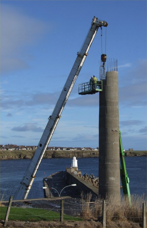 Photo: Former Wick Power Station Chimney Being Demolished