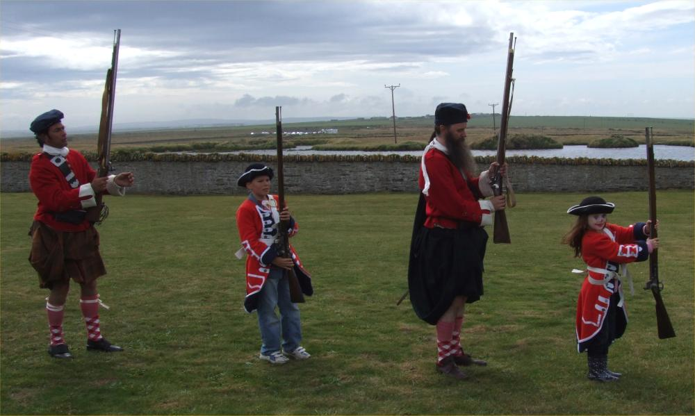Photo: Battlescar Bring Jacobites And Redcoats To Noss Lighthouse