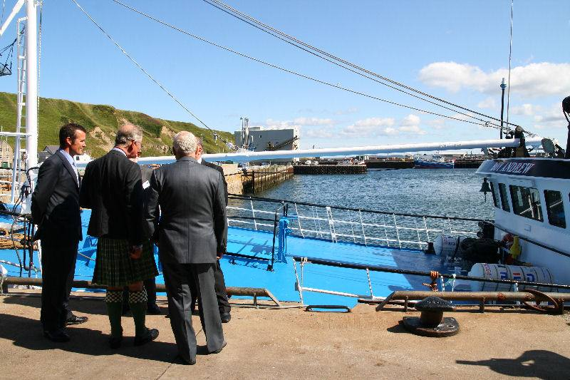 Photo: Prince Charles At Scrabster, Caithness