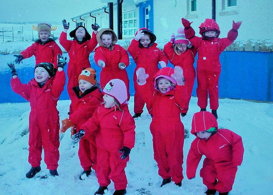 Photo: Resolis Nursery Children In Their New All Weather Suits