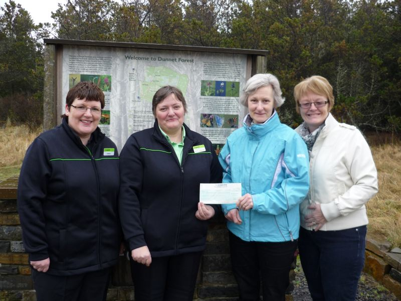 Photo: Coop At Mount Pleasant, Thurso Donates £1127 To Dunnet Forestry Trust