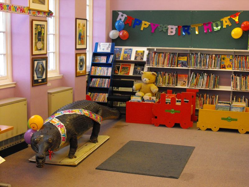 Photo: 100th Birthday Bash For Crocodile At Wick Library