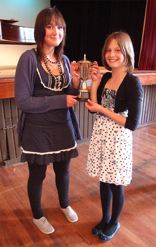Photo: Ruth Potts and Isla Cartright From Halkirk Win Junior Lieder