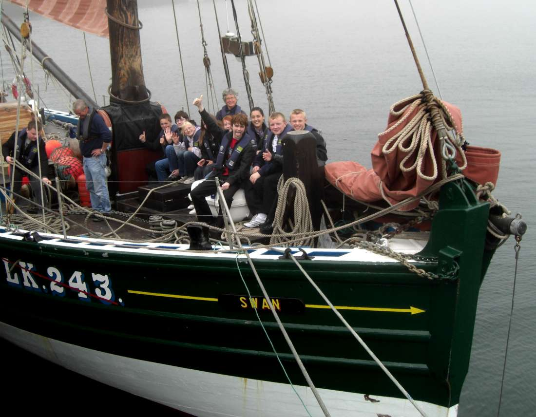 Photo: Wick High School Pupils Aboard The Swan